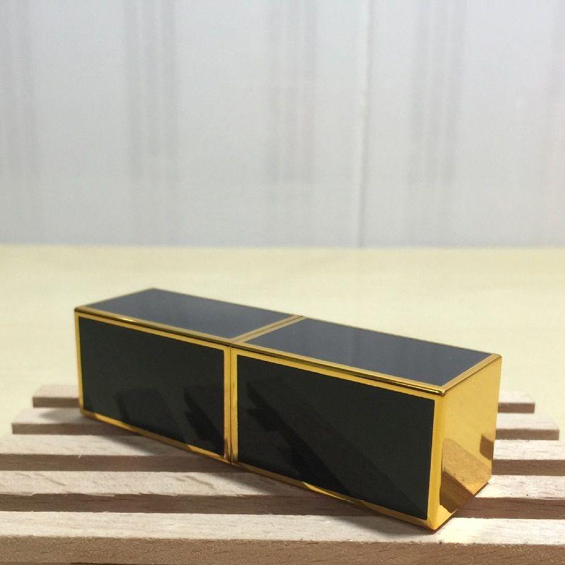 Square Gold Edge Empty Lipstick Tubes DIY Homemade Lipstick Materials 12.1mm Inner Diameter Wholesale wen4705