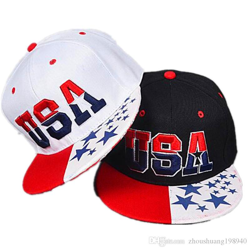 d862713e242 2017 New American Flag Snapback Hats Brand USA Letter Cotton Gorras Hip Hop  Snapback Caps Men Women Baseball Cap Bones Hat Beanies From  Zhoushuang198940
