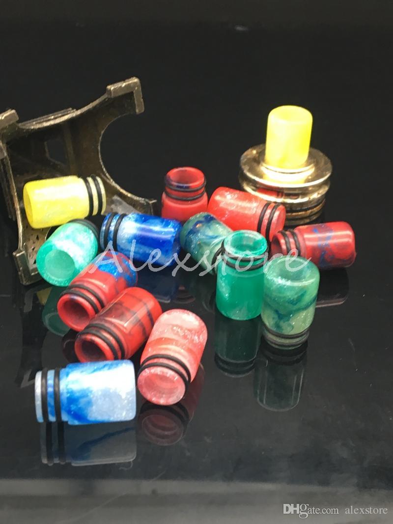 4 Styles Epoxy Resin Drip tip Wide Bore 510 Thread Mouthpiece for Aspire Cleito Petri Tank Flash Kennedy RDA Comp lyfe Vape Atomizer