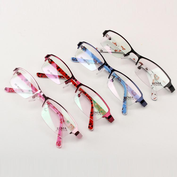 2018 Wholesale Chashma Brand Half Rimmed Girls Eye Glasses Kids ...