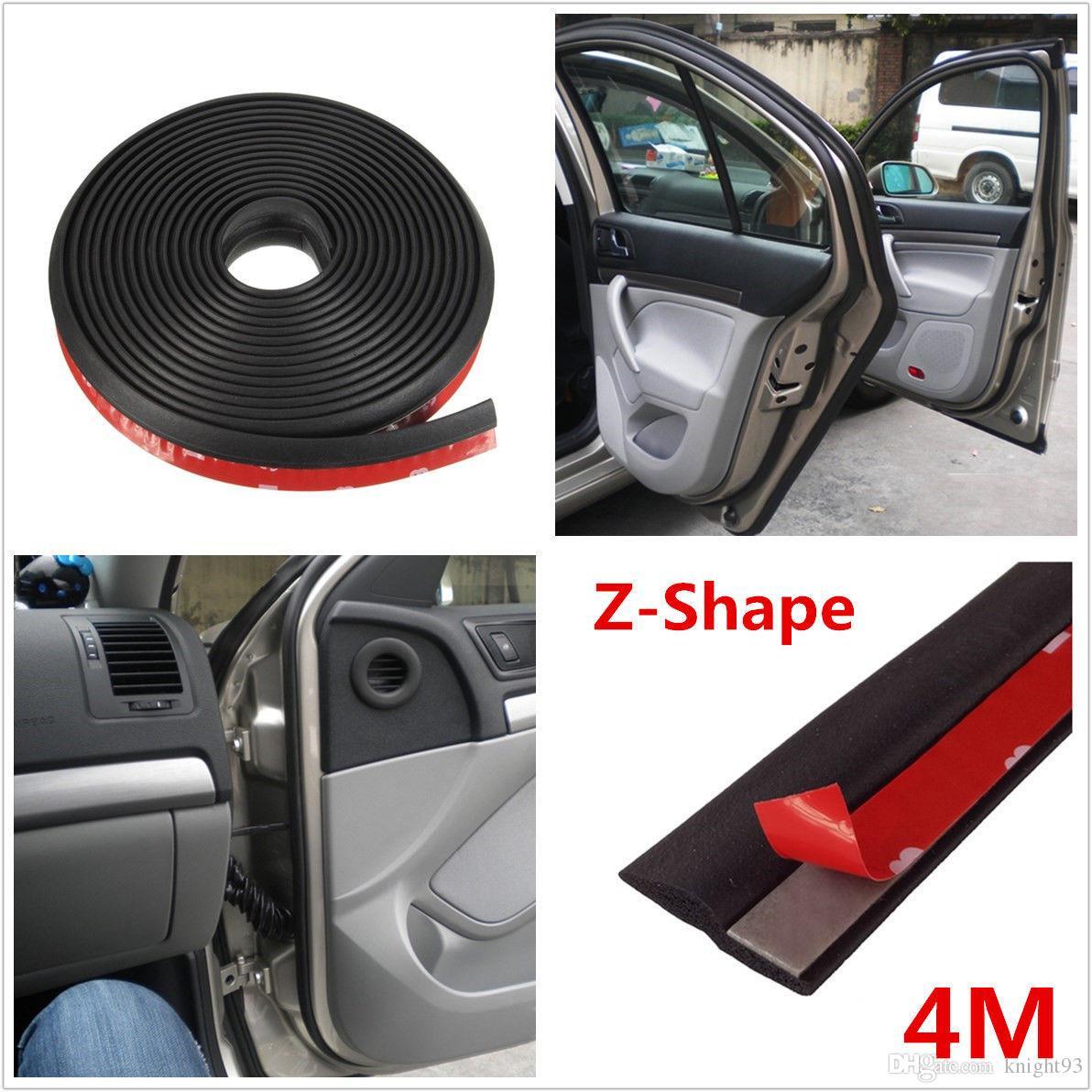 4m Black Z Shape Window Door Rubber Seal Weather Strip Hollow Car ...