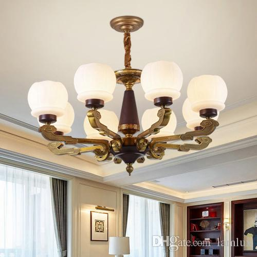 new chinese style led chandelier lights lanterns zinc alloy marble