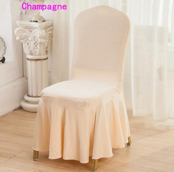 DHL Lycra Spandex Dining Chair Cover Skirt Cover for Wedding Party Banquet Hotel Decoration Chair Cover Good Quality Several Colors