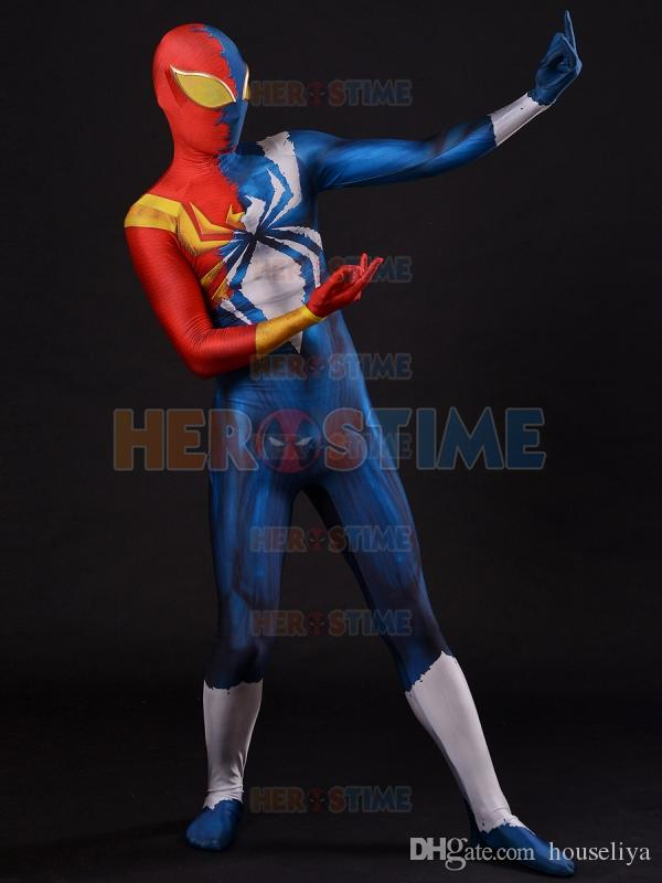 The Iron Spider Armor Venom Symbiote Spiderman Costume ...