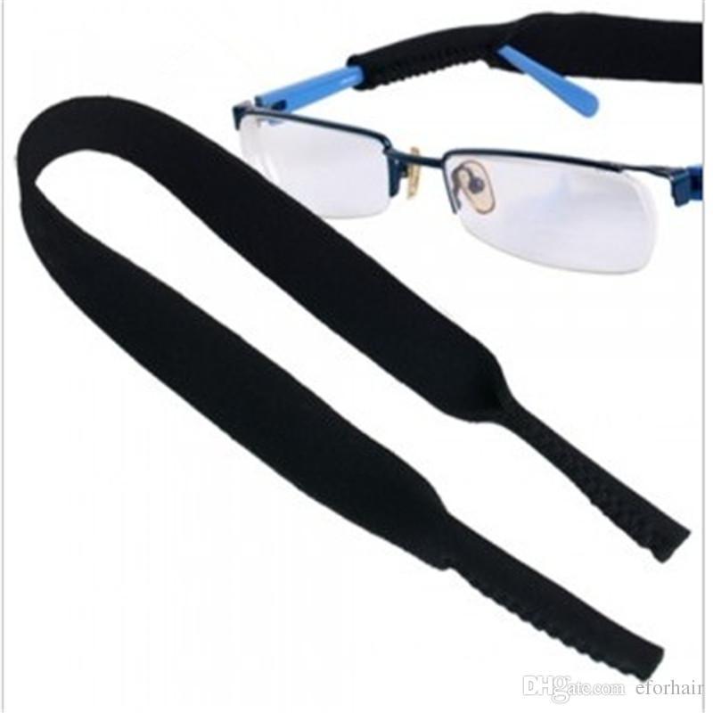 gafas de sol de los vidrios de la correa Gafas de sol del cuello del deporte de neopreno Cable Tira de sujeción Elige color estrenar