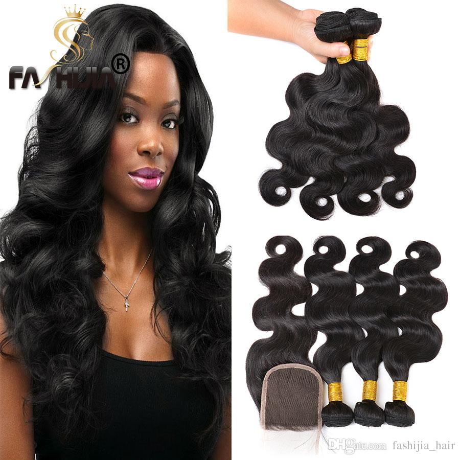 Brazilian Body Wave Hair Weaves Virgin Brazilian Human Hair Bundles Cheap Natural Black Wonder Beauty Hair Extensions