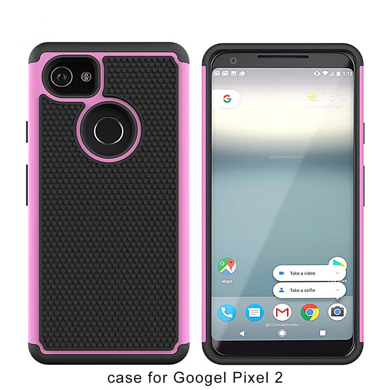 official photos d3057 a765c Drop Protective Case Shock Proof Hybrid Defender Armor Case Cover For  Google Pixel 2 XL For Google Pixel 2 Football pattern design A
