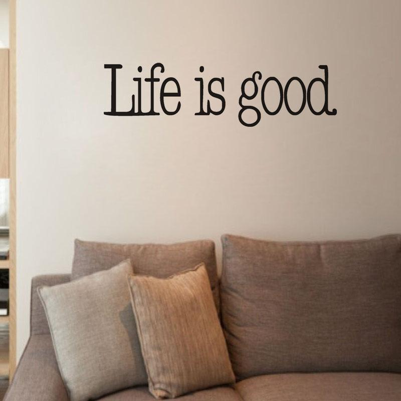 Life Is Good Vinyl Wall Quotes Sayings Words Lettering Decals Wall