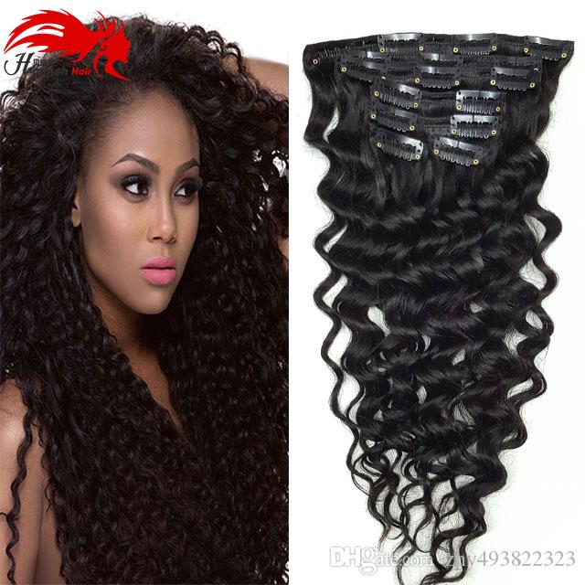 Hannah Product Curly Clip In Hair Extensions Natural Hair African