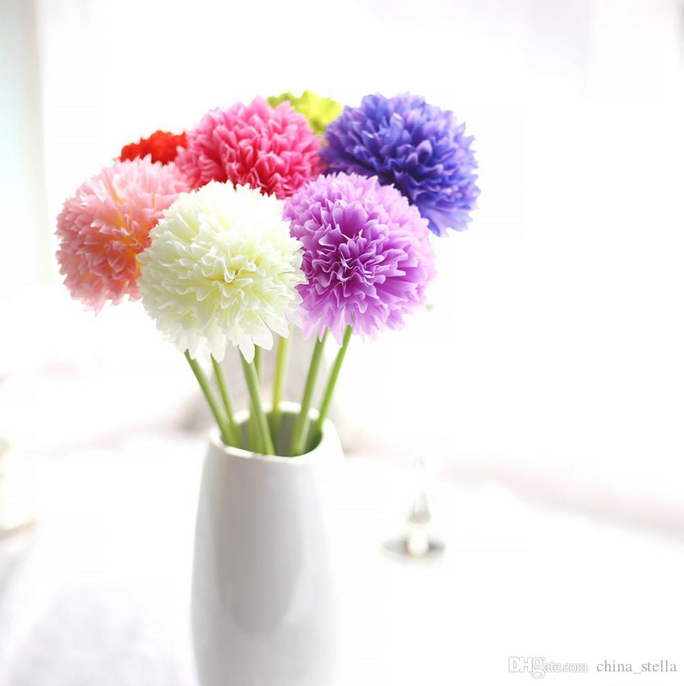Single stem artificial flowers artificial hydrangea flower ball diy single stem artificial flowers artificial hydrangea flower ball diy silk hydrangea accessory fake flores wedding decoration display flower flower vine izmirmasajfo