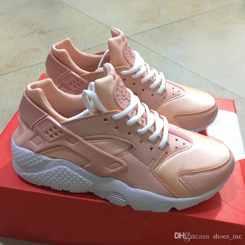 9ed84bc6662 2019 2017 Customised Air Huarache Nude Pink Running Shoes For Women Kylie  Boon Light Pink High Quality Huaraches Trainers Huraches Shoe 36 40 From  Shoes inc ...