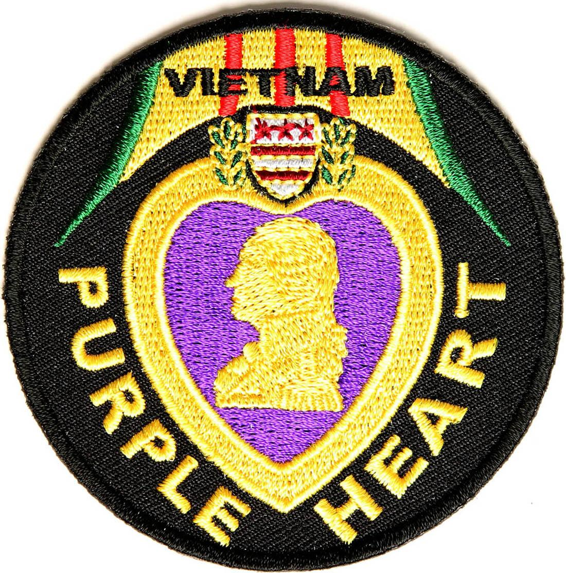 Hot Sale Free Shipping Custom Vietnam Purple Heart Patch Can be Sewing or  Iron on backing badge