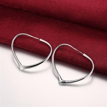 Partihandel - Lägsta pris Julklapp 925 Sterling Silver Fashion Örhängen E028