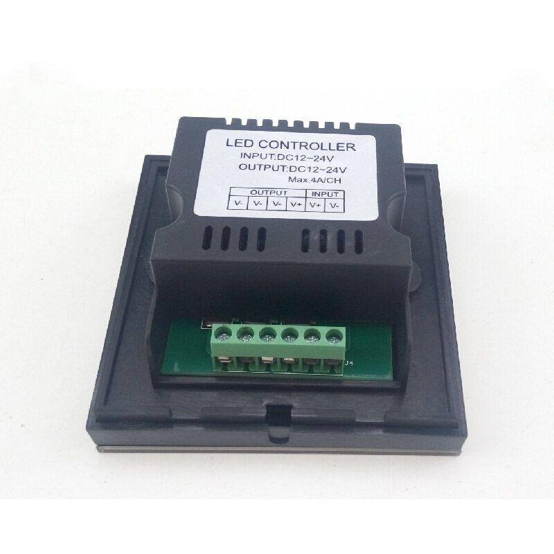 Black LED Controller for 12V 24V LED Flexible Strip Light 5050 3528 5630 2835 Single Color Rope Reel Touch Panel Brightness Dimmer CE ROSH
