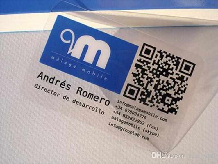 بطاقات هوية قابلة للطباعة على جانبين لبطاقات تعريف المهنة ماتي واضحة PVC ورقة الثابت حزمة من 200 مخصص شعارك
