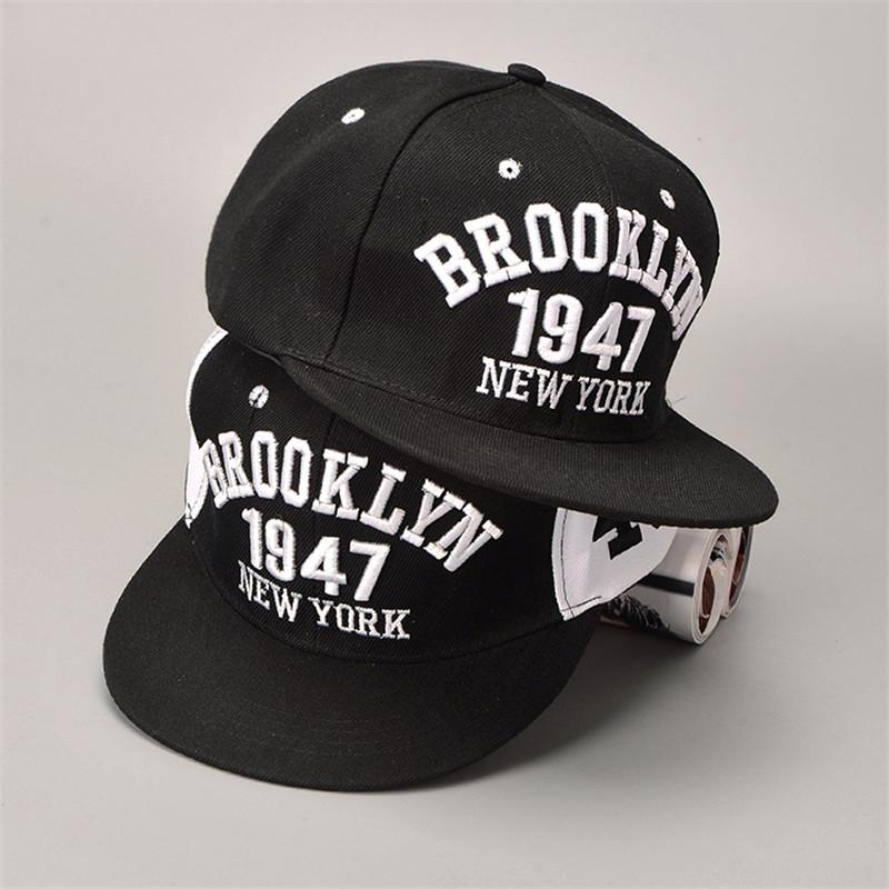 Wholesale- 1947 Brooklyn Style Baseball Cap Hat Gorras Planas Snapback Caps  New York Hip Hop Hats Snapbacks Casquette Cap Cap Block Cap Transfer Hat  Records ... b93c59fe6ad