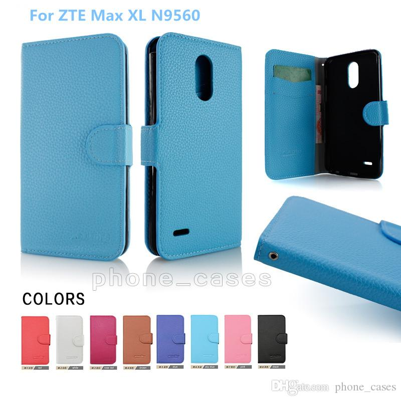 sneakers for cheap d8da3 a257c Premium PU Leather Wallet Flip Phone Case For Motorola Moto Z2 Force For  ZTE Max XL N9560 Cover inside With Credit Card Slots