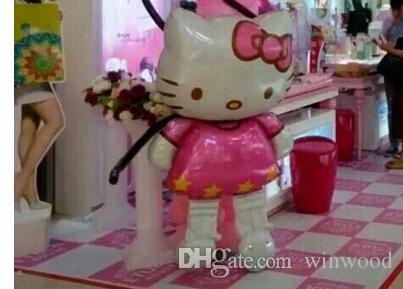 Aluminum Film Balloon Cartoon KT Cat Party Helium Balloon Supplies 116*58 cm for Birthday Party Wedding Decoration