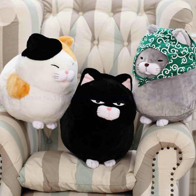 2019 Whosale 30/40cm Big Face Cat Cloth Doll Pussy Cat Plush Toy Children  Fat Cat Doll Animals Birthday Gift For Children Kids Toys From Anna88888,  ...