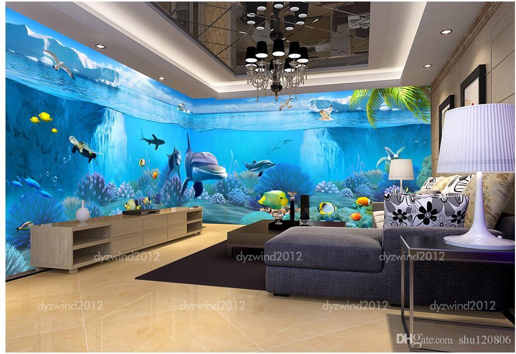 3d chambre wallpaer personnalisé photo murale Dreamland monde thème pavillon espace fond peinture murale 3d peintures murales papier peint pour murs 3 d