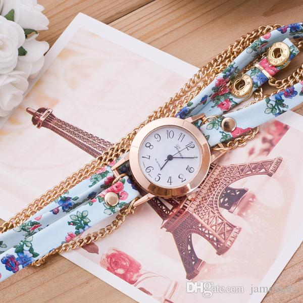 wholesale price big shop Ms personality weaving around bracelet watches folk customs in Geneva decoration watches stock watche
