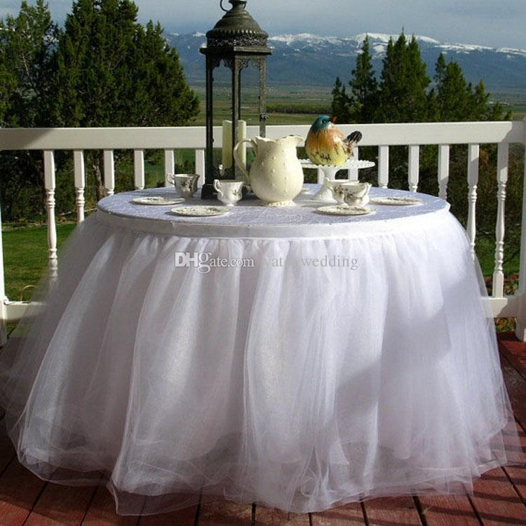 White Tulle Table Skirt Tutu Table Skirt For Wedding Birthday Party