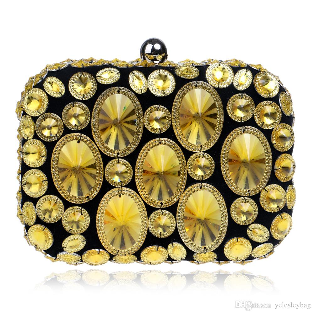 Women Clutches Purses Bags Women Color Diamond Studded Evening Crystal Clutch Colorful Acrylic Crossbody Shoulder Purse