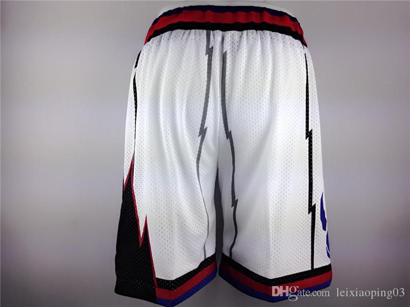 2017 Shorts De Basquete Esporte Sólido Calções De Basquete Homens Roxo Branco Ginásio de Fitness Esporte Shorts De Basquete Aptidão