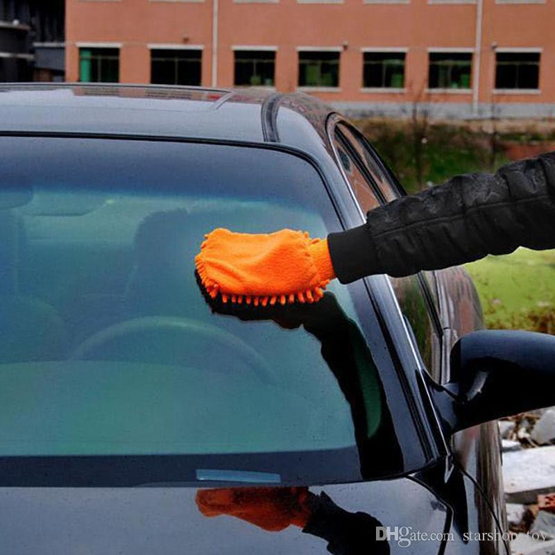 2017 Car Hand Soft Cleaning Towel Microfiber Chenille Washing Gloves Coral Fleece Anthozoan Car Sponge Wash Cloth Car Care Cleaning XL-G109