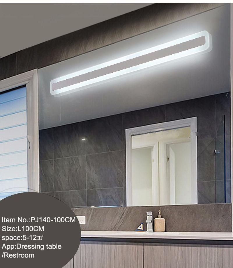 Modern Akrilik Banyo ışık Makyaj aynası kurşun ışık banyo Duvar Aplik Lamba Ayna Ön LED Aydınlatma Su Geçirmez Antifogging