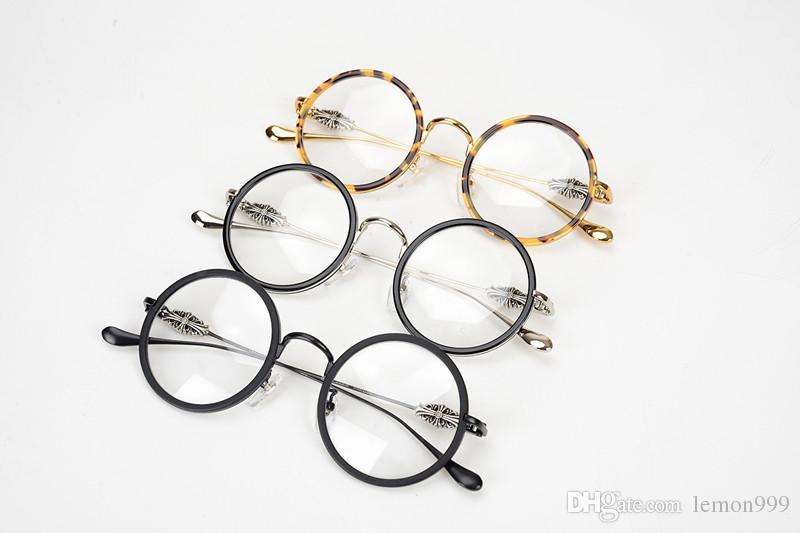 Бренд круглая рамка очки мужчины ретро старинные очки для чтения кадр очки рамка для женщин близорукость оптические очки для мужчин с делом