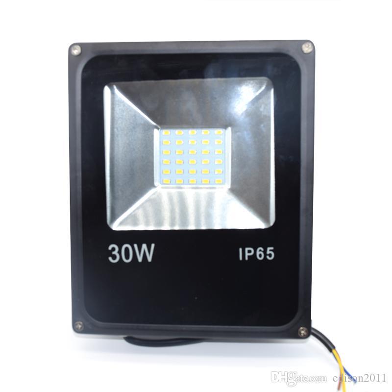 LED Floodlight 30W Ultral-Thin Led Flood Light Spotlight 85V - 265V Waterproof Outdoor Wall Lamp Projectors Free DHL