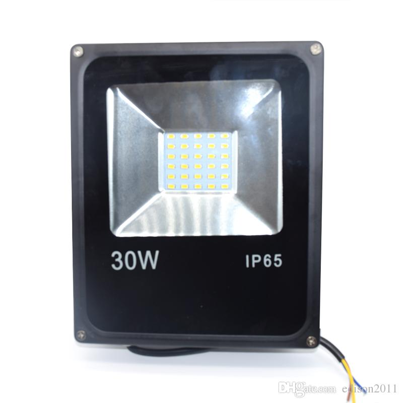 LED Floodlight 30W Ultral-tunna LED Flood Light Spotlight 85V - 265V Vattentät Utomhusväggslampa Projektorer Gratis DHL