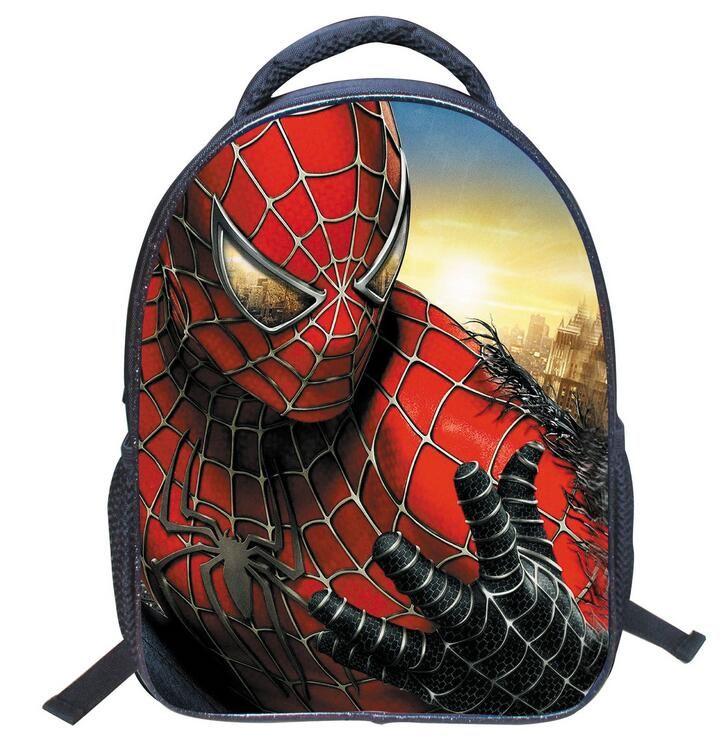Children s Gifts Kindergarten Boy Backpack Cartoon Spiderman Baby ... 17a56939f09d3