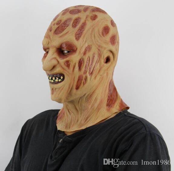 Halloween Adulte Freddy Masque Zombie Mask Latex Sanglant Effrayant Extrêmement Dégoûtant Plein Visage Jason Masque Costume Party Cosplay Prop