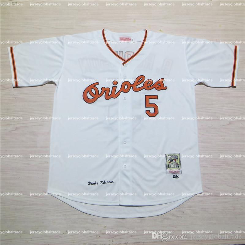 1f156aecebf ... 2017 2017 Custom MenS Women Youth Baltimore Orioles 1966 5 Brooks  Robinson Throwback Baseball Home And White Brooks Robinson Authentic Jersey  ...