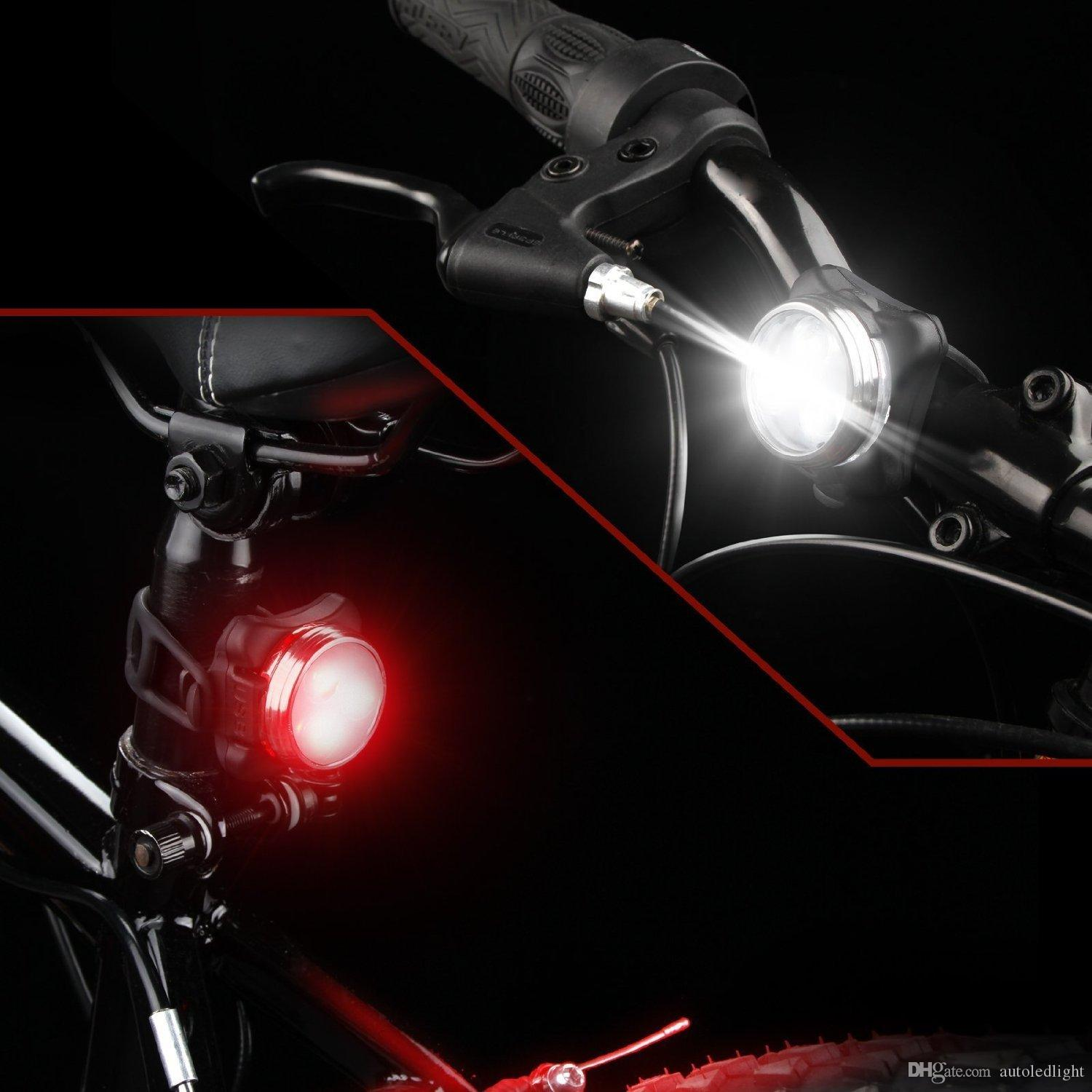 Lighting Rechargeable Headlight Taillight Combinations,Includes Front and Rear Bicycle Light Set, Bike Lights,2 USB Cables,4 Modes, 350lm,Water