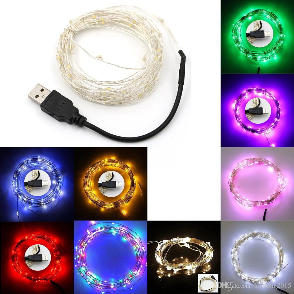 2018 Usb 50 Led Copper Wire Leds Copper Wire Fairy Lights Christmas ...