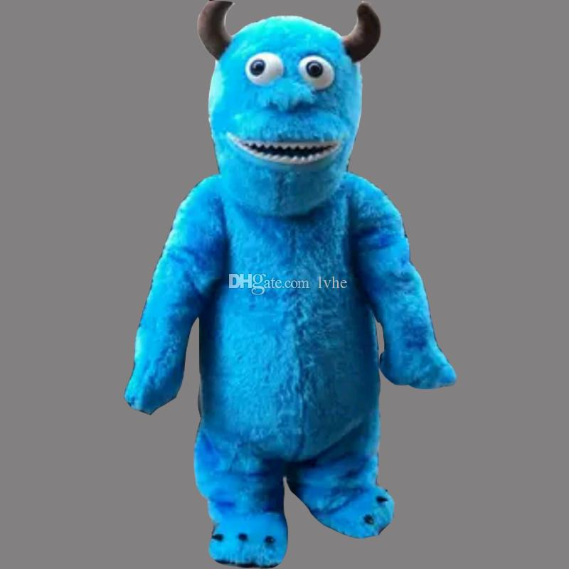 f8e989cfeab2 Sully Monster S Inc. Sullivan Adult Size Mascot Blue Costume Fancy Birthday  Party Dress Halloween Carnivals Costumes With High Quality Corporate Mascot  ...