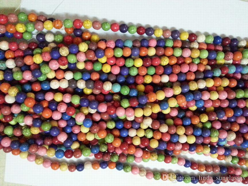 wholesale 8mm Multicolor Turkey Turquoise Gems Round Loose Bead total
