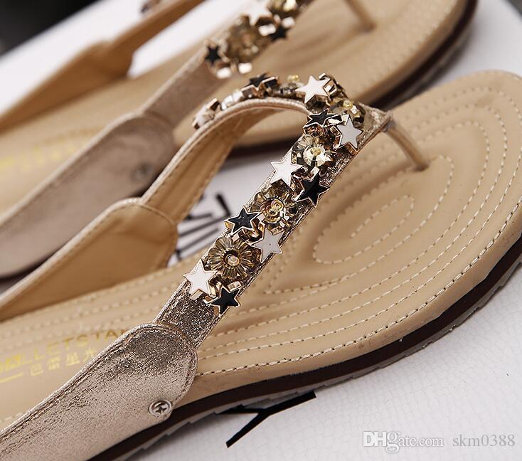 Zapatillas de playa nuevas sandalias de playa de verano para mujer zapatillas antideslizantes para todos los partidos con zapato de uso plano tamaño US 4 - US 9.5