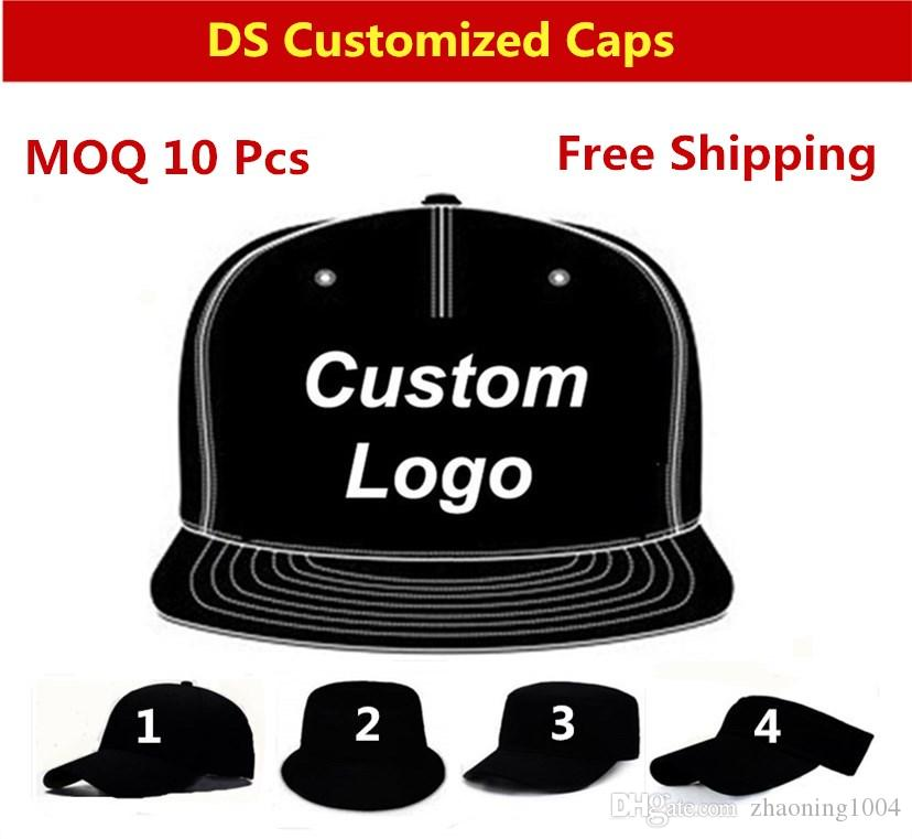 6dfa909d20a Custom Baseball Caps Adjustable Flat Brimmed Hip Hop Snapbacks Hats Fitted Embroidery  Printing Logo Adult Men Women Kids Size Available Cap Hat From ...
