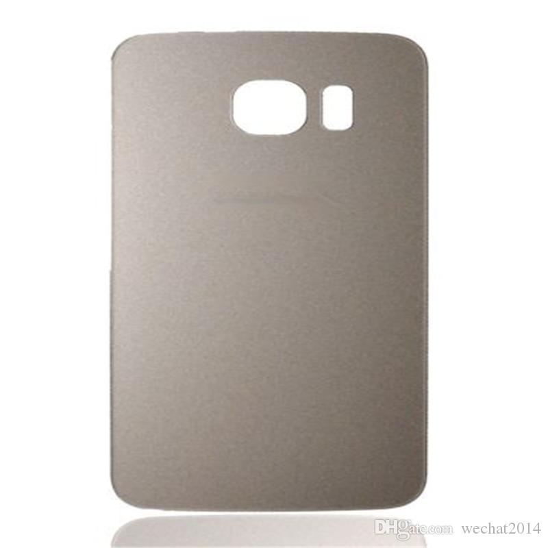 Coperchio dell'alloggiamento della batteria Coperchio di vetro della copertura Samsung Galaxy S6 G9200 S6 Edge G9250 con adesivo DHL libero