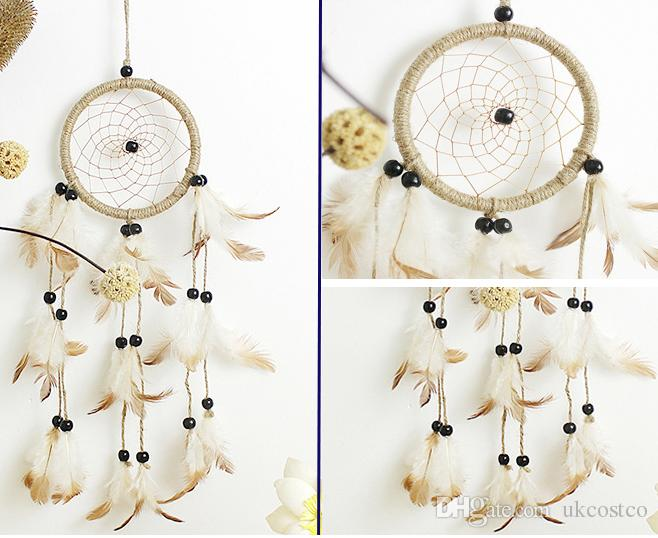 2019 Dream Catcher Wind Chimes Feather Handmade Dreamcatcher Net For Car Wall Hanging Decoration Craft Birthday Wishes Gifts B952L From Ukcostco