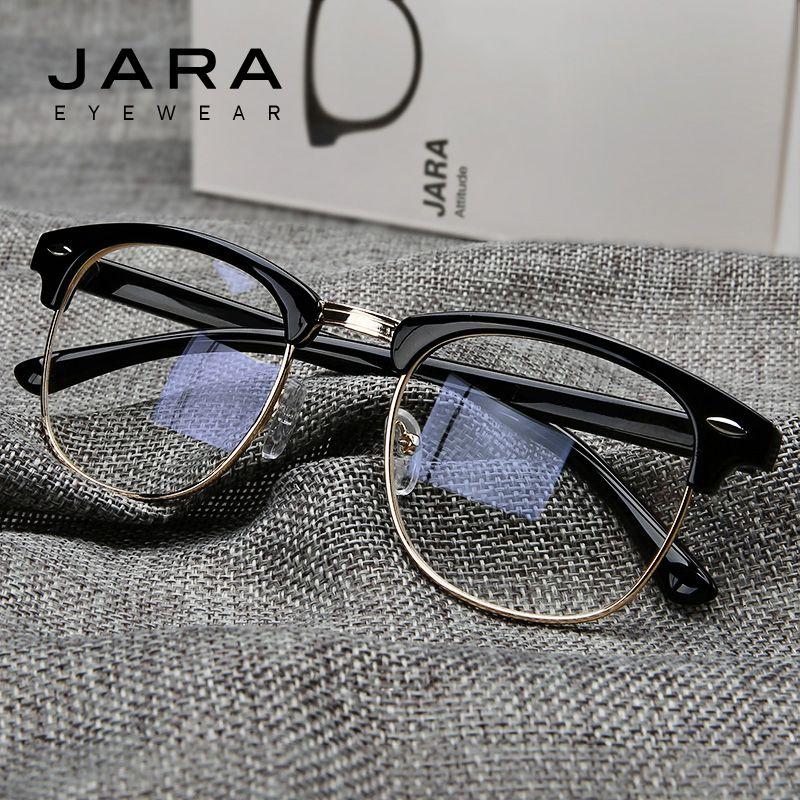 e337dea049 Wholesale- JARA Radiation Protection Rivet Frame Eyeglasses Men Women Anti-Blue  Ray Brand Classic Computer Glasses Anti-fatigue Goggles Brand Frame Eyeglass  ...