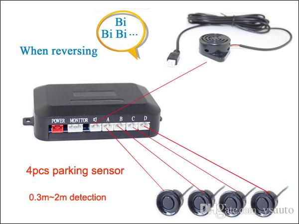 Car Truck Rearview Camera Intelligent Parking Assistance System PZ608 Waterproof IP67 7 Inch 16:9 Digital Panel Camera Pixal 648*488 By Post
