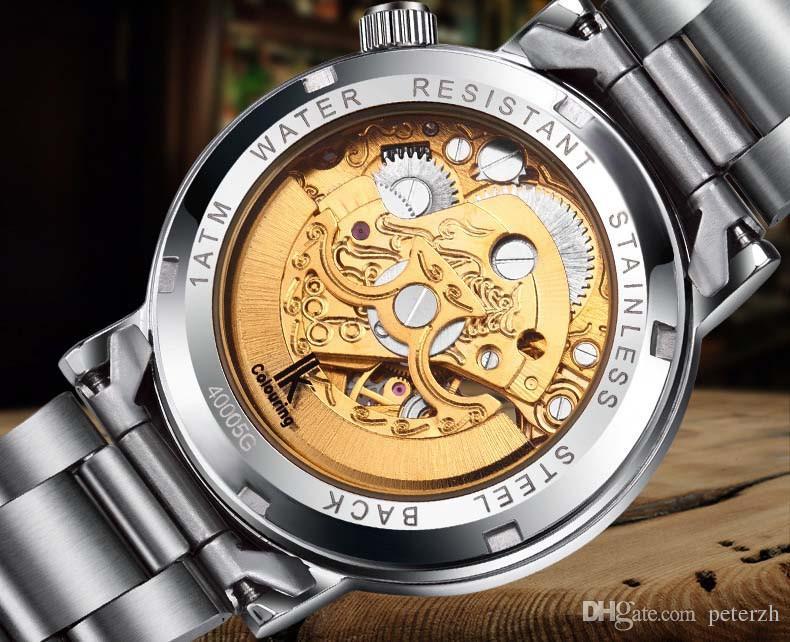 IK para colorear Watch Women Roman Skeleton Watches Reloj de pulsera mecánico automático con caja original