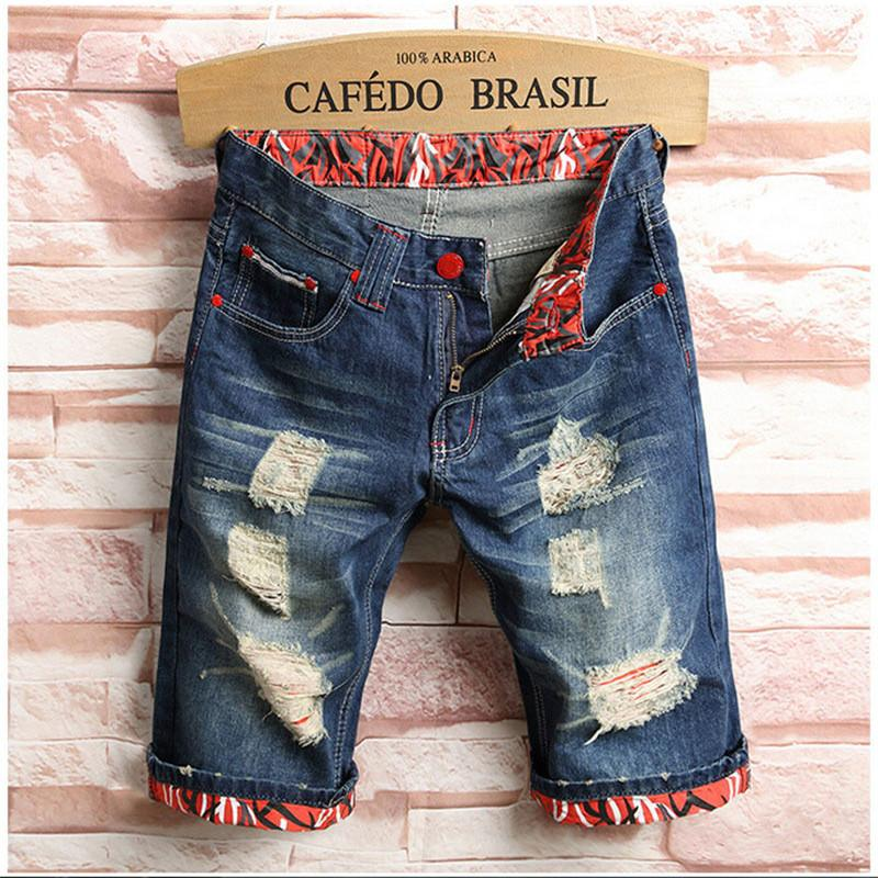f28cb54790f 2019 Wholesale 2017 Aakar Shan New Style Men S Washed Ripped Destroyed  Zipper Fly Jeans Straight Vintage Frayed Denim Pants Shorts From  Blueberry13