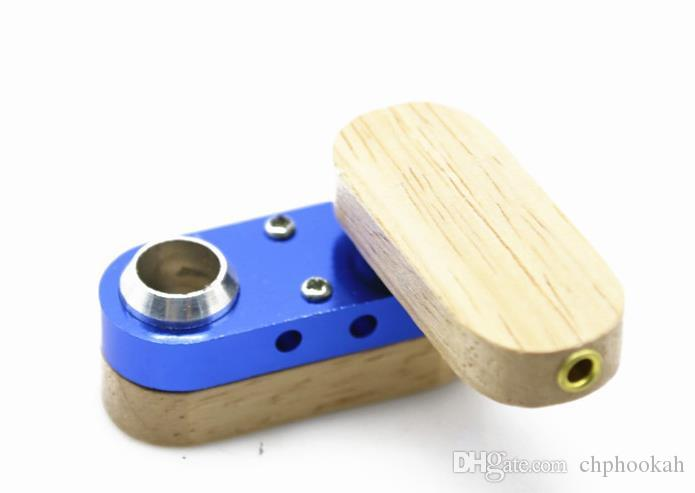 Rotary Wood Small Pipe Multicolor Selection of Portable Creative Folding Metal Pipe