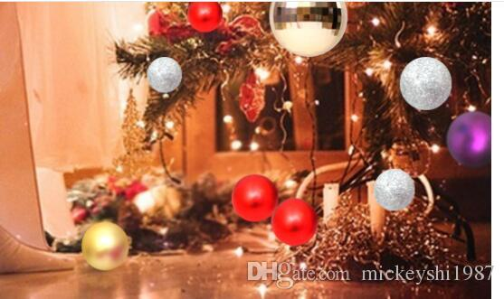 Christmas Balls Xmas Tree Decoration Supplies Light Ball 8cm Christmas ball Christmas tree decoration Pendant Hanging Drops with Rope